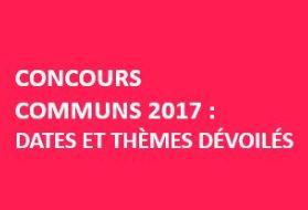 Concours Commun 2017